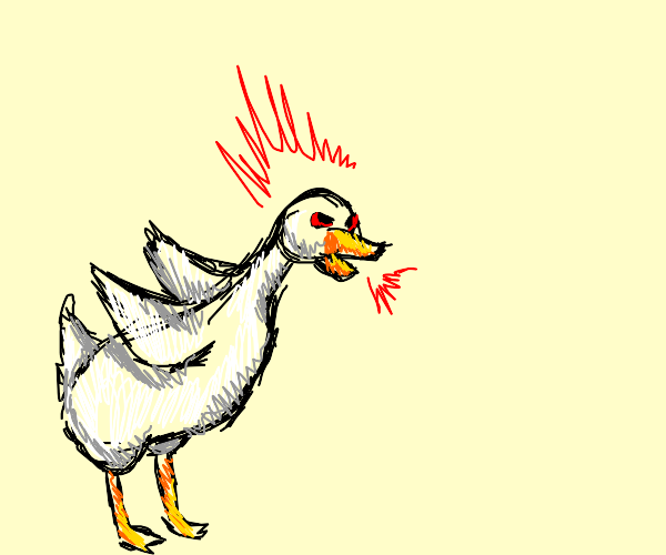 this goose is BONKERS