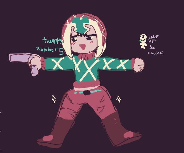 Mista (JJBA) but he's dummy thicc