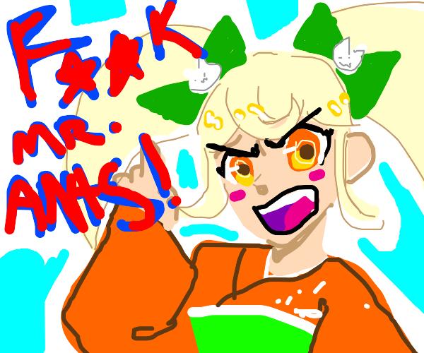 Hyoko (danganronpa) hates ants