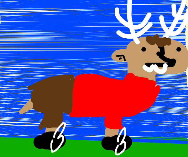 Man is reindeer