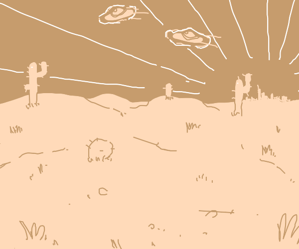 UFOs over Mojave Desert