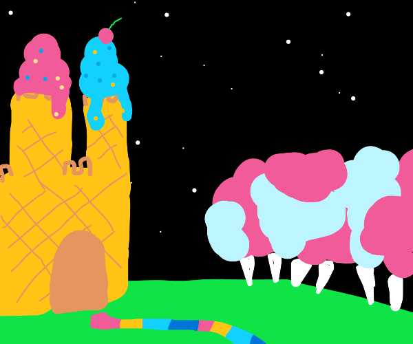 candyland at night