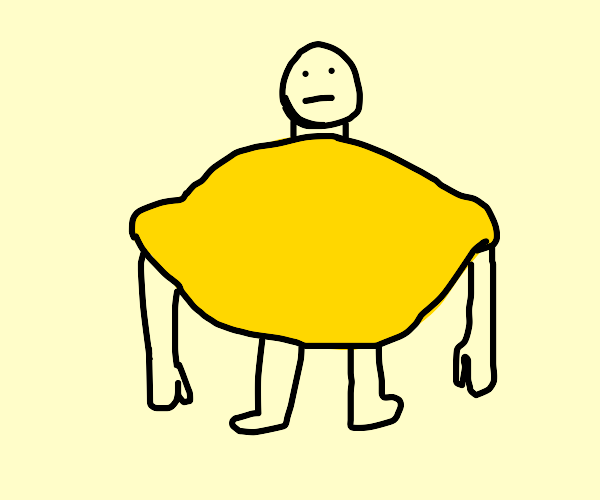 Guy in lemon costume