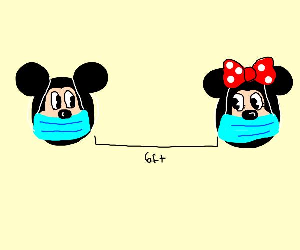 mickey & minni 6 feet apart