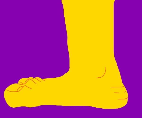 yellow big foot