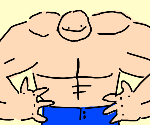 muscle man is oh so muscly