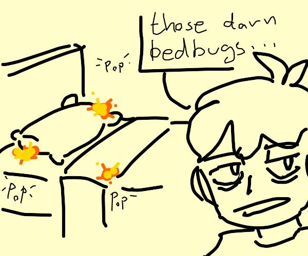 Don't let the bedbugs explode!