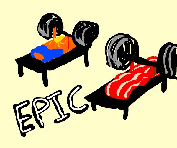 Sunscreen and bacon do epic bodybuilding