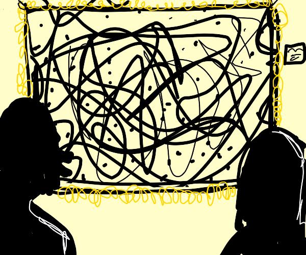 Random scribbling and dots