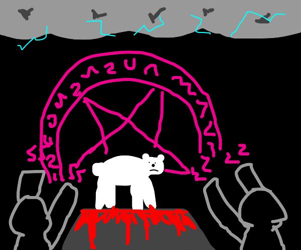 Sacrificing a polar bear