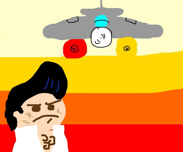 Elvis and sentient food fight Warplanes