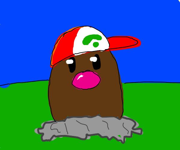 Diglett with hat