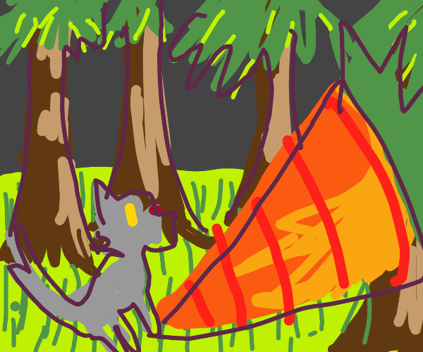 wolf in a beautiful forest finds giant carrot