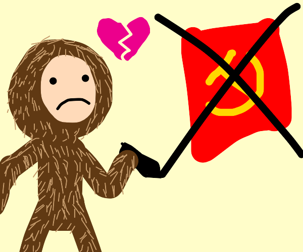 Furry brokenheartedly refuses communism