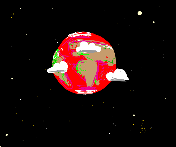 Paint Earth red, NO, blue!