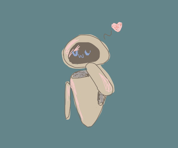 EVE from Wall-E says UWU