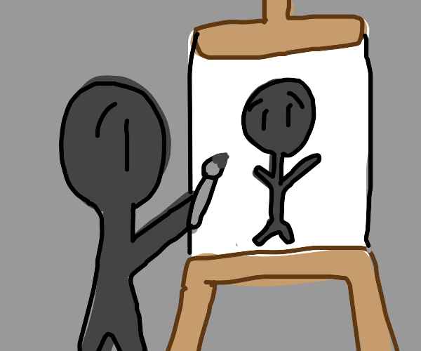 drawing a self portait