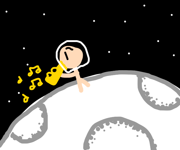 play trumpet on the moon
