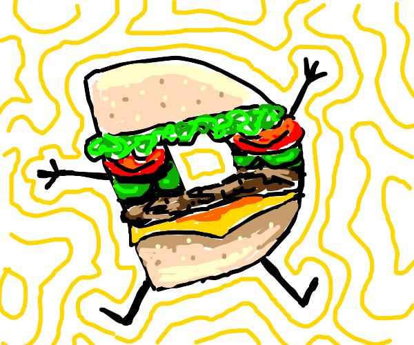 Drawception D but as a sandwich