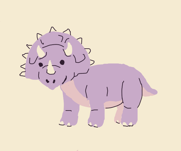 happy triceratops :)