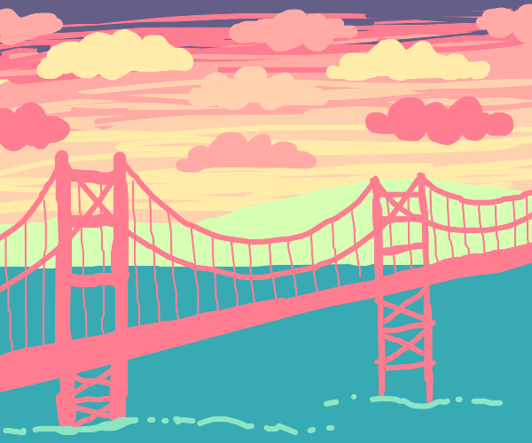 sunset with bridge