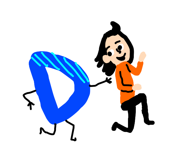 Drawception playing tag with a girl