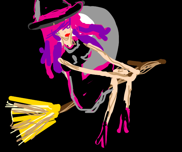 Pink haired witch.