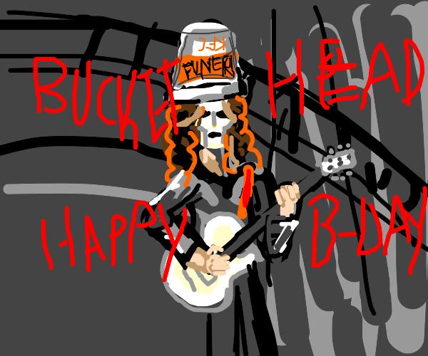 Happy birthday, Buckethead!