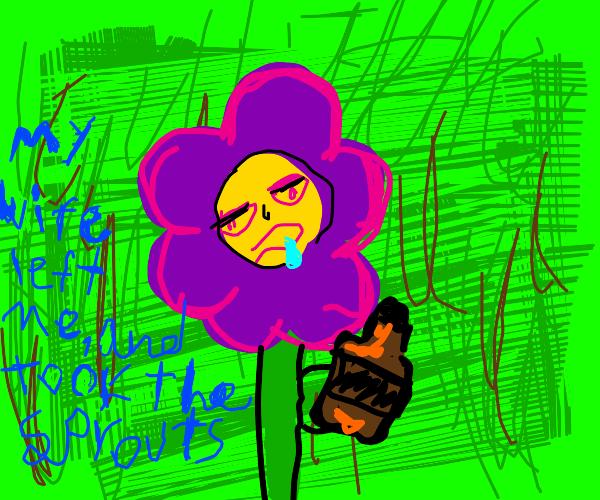 drunk purple flower
