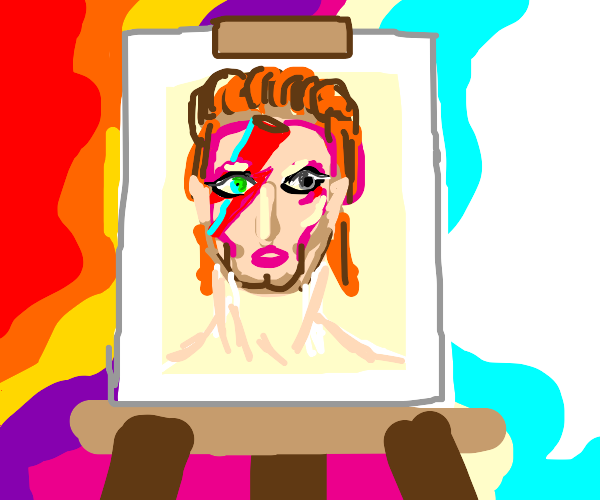 If David Bowie was a painting