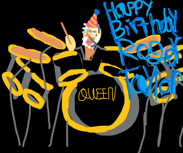 Happy birthday Roger Taylor, Queen's drummer!