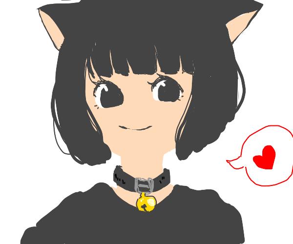 Anime cat girl loves you.