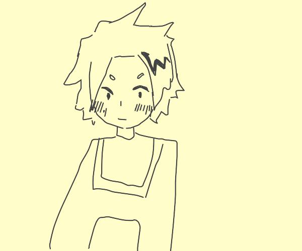 Denki kaminari is blushing