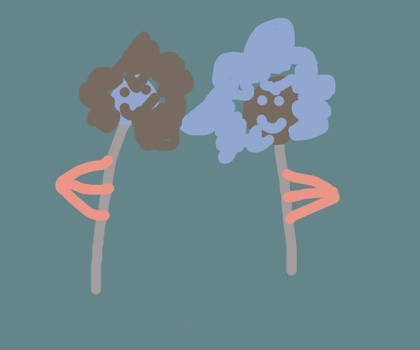 teletubbies but theyre spoopy flowers