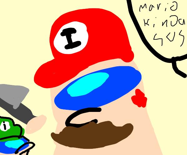 Mario looks sus