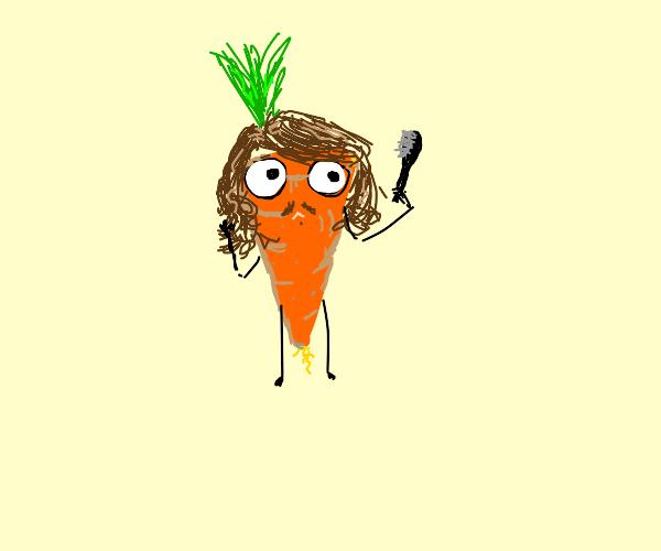 Scruffy carrot
