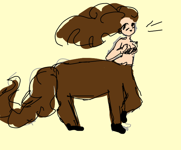 Centaur lady running in the wind