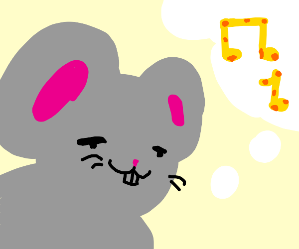 rat thinks music notes are cheese