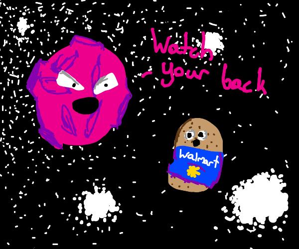 Alien moon warns Walmart potato