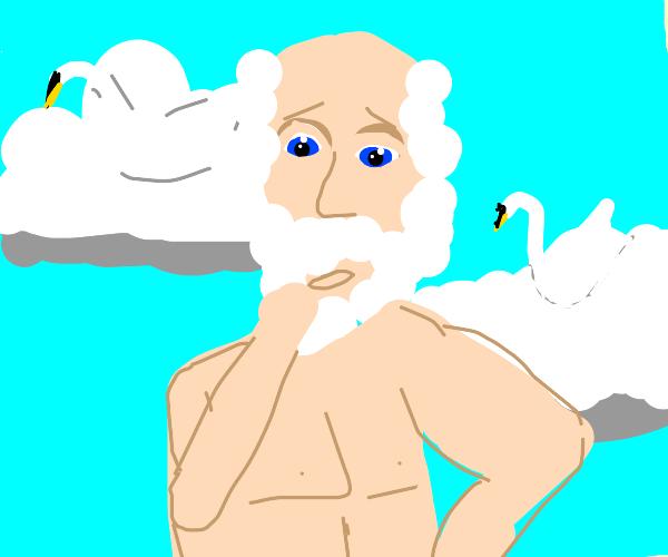 zeus is looking for his swans