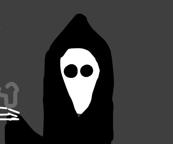 Grin reaper has bread