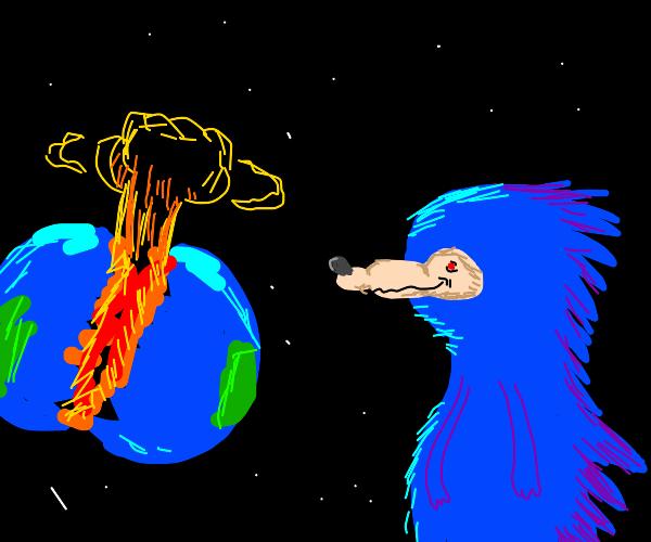 Sonic destroys the world