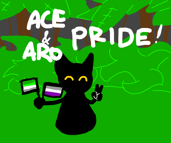 aroace cat in a forest