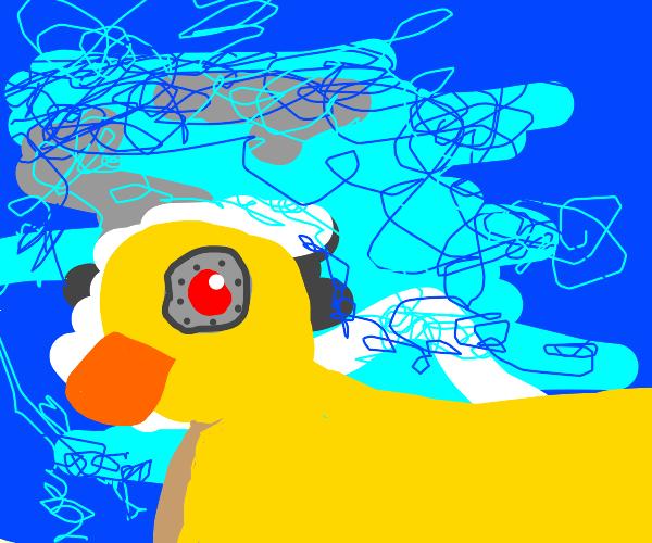 Cyborg rubber ducky