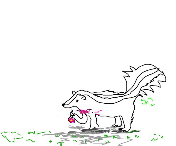 Skunk using perfume
