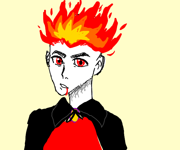 Handsome Vampire with flame hair