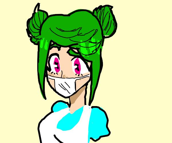 Coronavirus anime girl