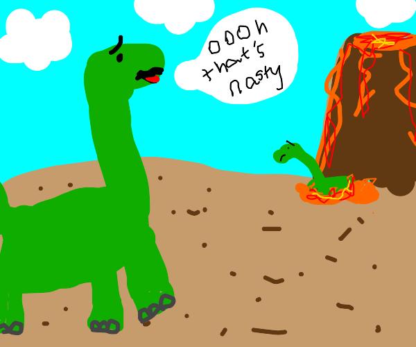 This dinosaur thinks that's nasty