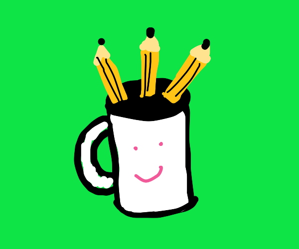 mug with pencils