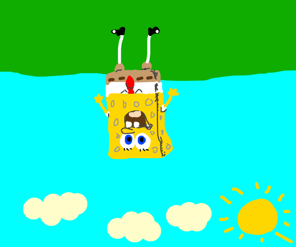 Spongebob upside down